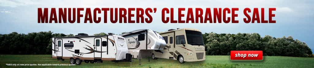 RV Clearance Sale
