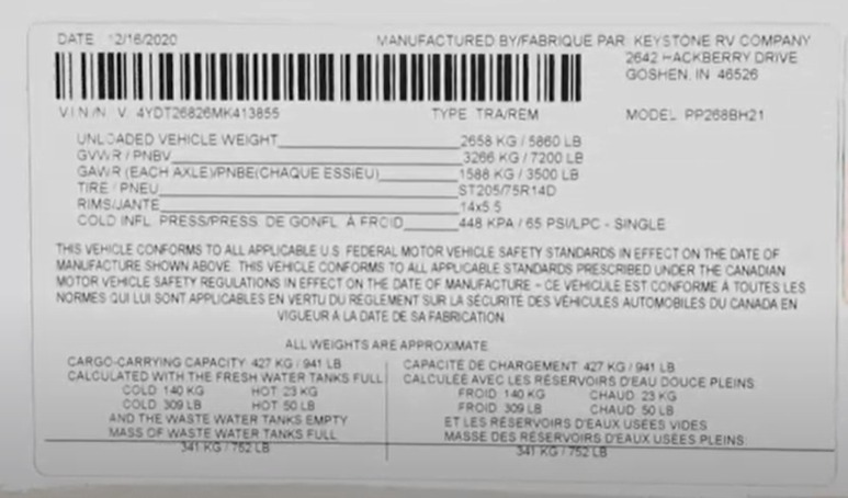 How to Read RV Manufacturer's Tags